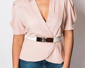 Vintage Women's Blazer-Inspired Top - Katie MFG