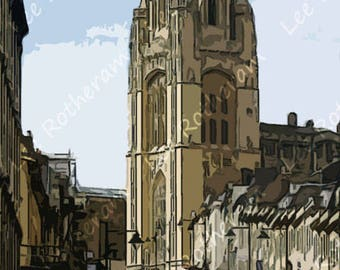 Wills Memorial Building Bristol Digital Art Print