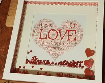 Personalised Valentines Day Frame