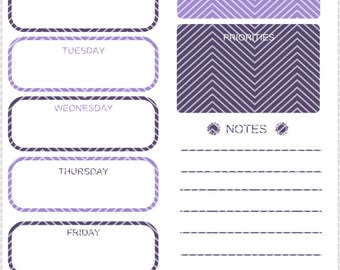 Weekly Planner | Instant Download