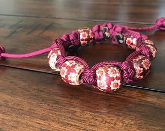 Woodbead paracod bracelet
