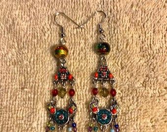 Gypsy beaded earrings