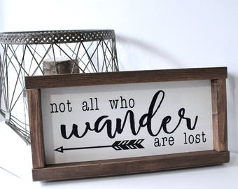 Not All Who Wander Are Lost - Wood Sign, Rustic Wood Sign, Rustic Home Decor,