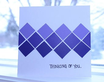 Thinking of you greeting card.