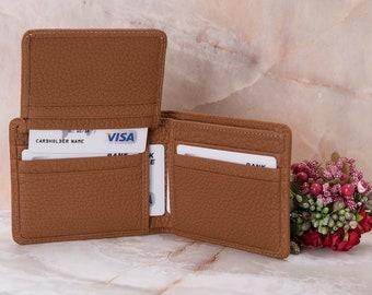 Tan Wallet, Leather Wallet, Bifold Wallet, Leather Mens Wallet, Slim Wallet, ID Window Wallet, Customized Leather Wallet, Wallets