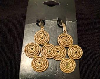 Golden grass earrings