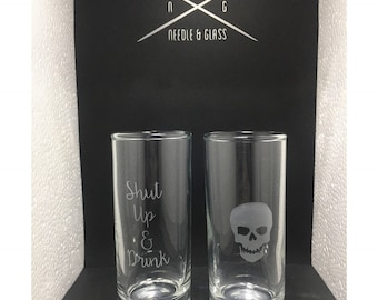Shut Up and Drink Shot Glass Set