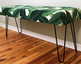 Tropical Palm Bench