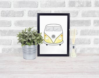 VW Kombi Van Printable