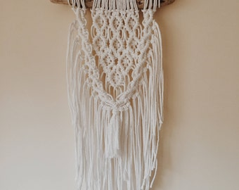 Macrame wallhanging on small chunky driftwood