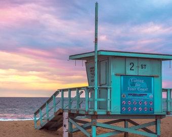 Hermosa Beach California Sunset Photo - Print