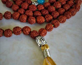Rudraksha mala beads, from India