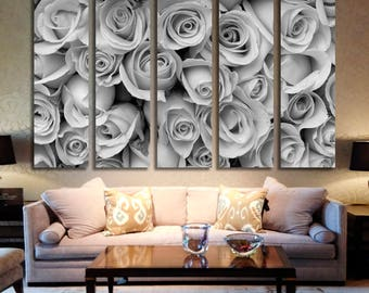 Roses Wall Art Roses Canvas Print Roses Large Wall Decor Roses Canvas Roses Poster Print Roses Home Decor Gift for She Artwork