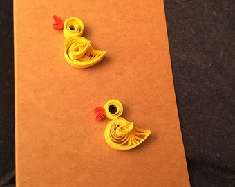 Quilled simple duck card