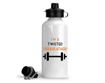 Crossfit Sports Bottle, I'm A Twisted Firebreather!, Crossfit Gift, Crossfit Bottle, Crossfit Water Bottle, Crossfit Funny Gifts
