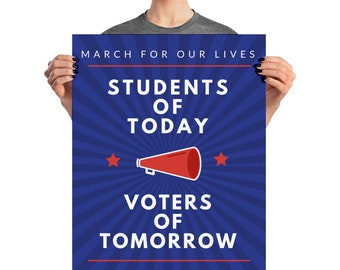 MARCH For Our Lives Poster, Gun Control, Gun Control Sign, March For Our Lives Sign, #neveragain, Never Again, Protest Poster, Teachers, Cal
