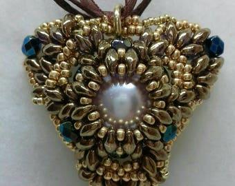 Golden Triangle Pendant Necklace