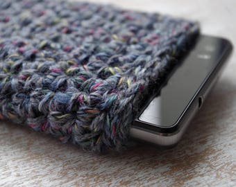 hand knit best cell phone iphone smartphone slip case knitted universal 5  various patterns