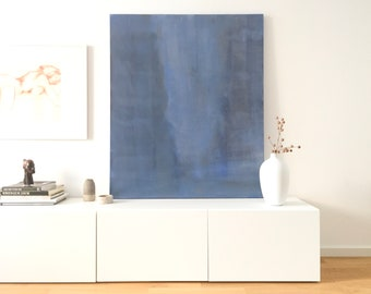 """Abstract painting """"Out of the Blue"""", acrylic on canvas (120 x 100)"""