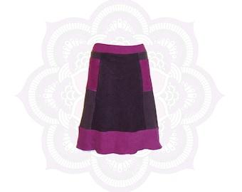 Organic Skirts - Ready to Ship in Size Small - Organic Cotton and Hemp terry (fleece weight) 2 Pockets Hemp Skirt -  Hand Dyed Skirt