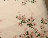 Reserve listing for JUDY - Vintage Linen, Tablecloth Table Cloth, Dogwoods Dogwood Flowers, Wilendur 1950s Table covering