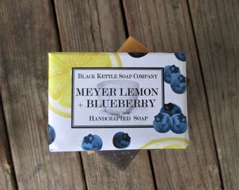 Palm Free MEYER LEMON + BLUEBERRY Soap