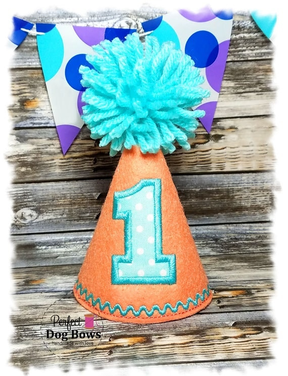 Dog Birthday Hat, Dog Party Hat, Birthday Hat for Dogs, Photo Prop, Pet Lover Gifts