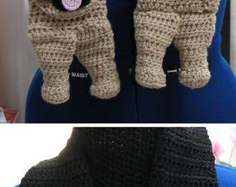 Crochet Pattern - German Shepherd Scarf Pattern - Men's Scarf - Dog Theme Gifts - Women's Scarves - Animal Scarf - Crochet German Shepherd