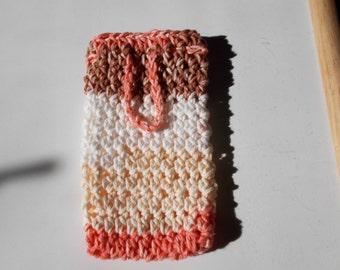 Soap Saver Sack-Cotton-Crochet, Soap Cozy, Soap bar holder, Bath and Body