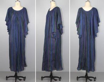 AMERIKAN CLIMAX / vintage dress / 1970s / cotton gauze / india / bohemian / caftan / festival dress