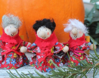 Kitchen Witch / Strega - Kitchen Witch doll - 3 Sisters