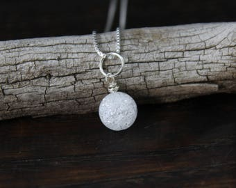clarity + release . one breath ice quartz necklace