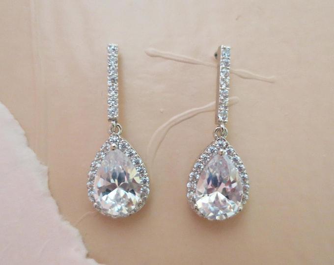Crystal Bridal Earrings Drop AAA Grade ALVIRA
