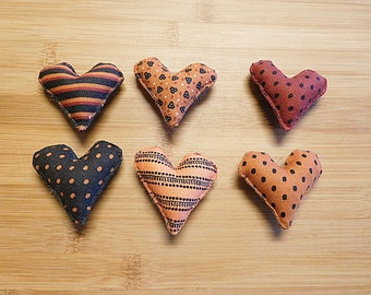 Halloween Hearts Ornaments Primitive Bowl Fillers Holiday Decorations