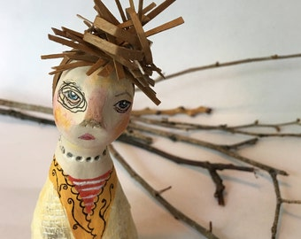 Kazuko.  Original Clay Art Doll