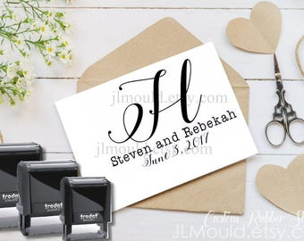 0010 SELF INKING Custom Personalized Rubber Stamp JLMould Save the Date Wedding Invitations SavetheDate Anniversary CardsInvites
