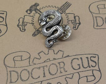 Snake Pin - Serpent Tie Tack - Men's Accessories by Doctor Gus - Serpent Lapel Pin - Snake Scatter Pin - Serpent Tie Pin - Vintage Goth