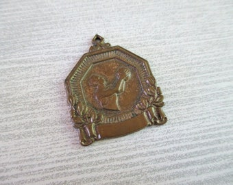 Vintage Copper Toned Basketball Charm / Pendant