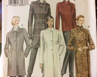 Uncut Vogue Basic Design 7978  Misses' Coats Sewing Pattern Size 14-16-18 Bust 36-40 inches Complete Uncut