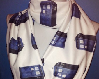 Doctor Who Infinity Scarf Geek scarves Dr who circle scarf Tardis Scarf, Sci Fi gifts for Women's scarves, geek scarf, Teen Scarf Cyber Sale