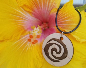 Wayfinder Polynesian Inspired Wood Pendant Necklace