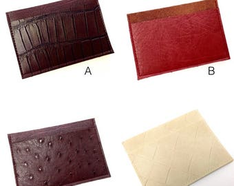 Card Holder, Slim Wallet, Pocket Wallet, Mens Wallet - Your Choice Vegan Leather