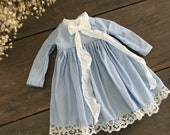 Melacacia Dress for Blythe ~ Pale Blue with Ribbon and Lace