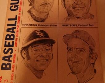 1973 Official Baseball Guide, Richie Allen, Gaylord Perry, Steve Carlton, Johnny Bench, Cincinnati Reds, American League, National League