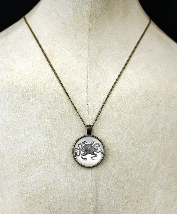 Custom nautical octopus necklace pendant sailor bubble necklace tattoo customize