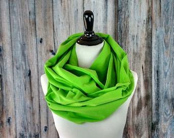 Chunky Knit Scarf - Chunky Infinity Scarf - Chunky Scarf - Oversized Infinity Scarf - Green Scarf - Lime Green Scarf - Green Infinity Scarf