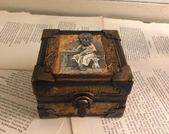 Vintage Style Sugar Skull Trinket Jewelry Box FREE US SHIPPING