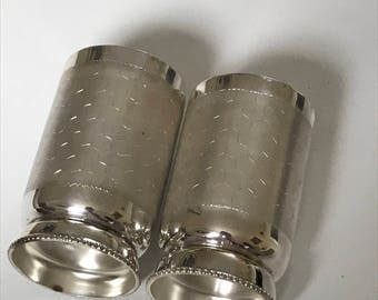 Indian Sterling Silver Beaker or Cup Set Boxed