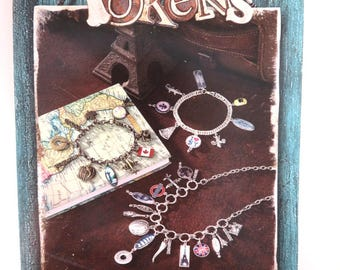 "Beading Book Jewelry Pattern Book Blue Moon Beads® ""Tokens"" Beading Instruction Book 13 Projects 8x5.5 in. - 1 pc. - 0004-S - New"