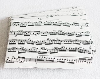 Recycled Music Envelopes Upcycled Sheet Music, 4.5 x 6, set of 10 by PrairiePeasant